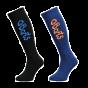 Barts Twin Pack Kids Ski Socks, black & blue