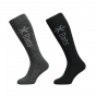 Barts Twin Pack Ski Socks, Anthracite & Black From Adult UK 2
