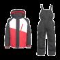 Trespass Crawley Ski Suit, Black/Red