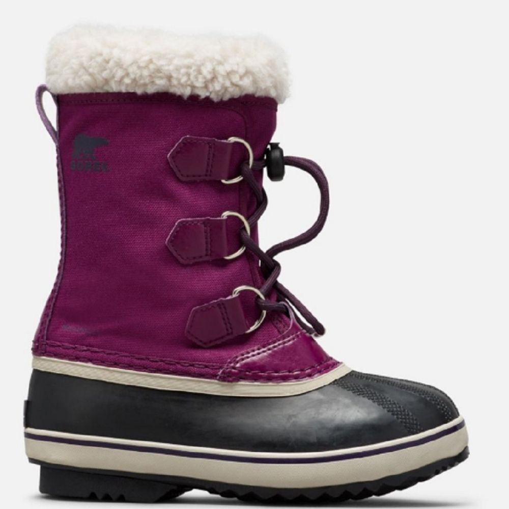 Sorel Childrens Yoot Pac Nylon Snow Boots Wild Iris/Dark Plum  - save 20%