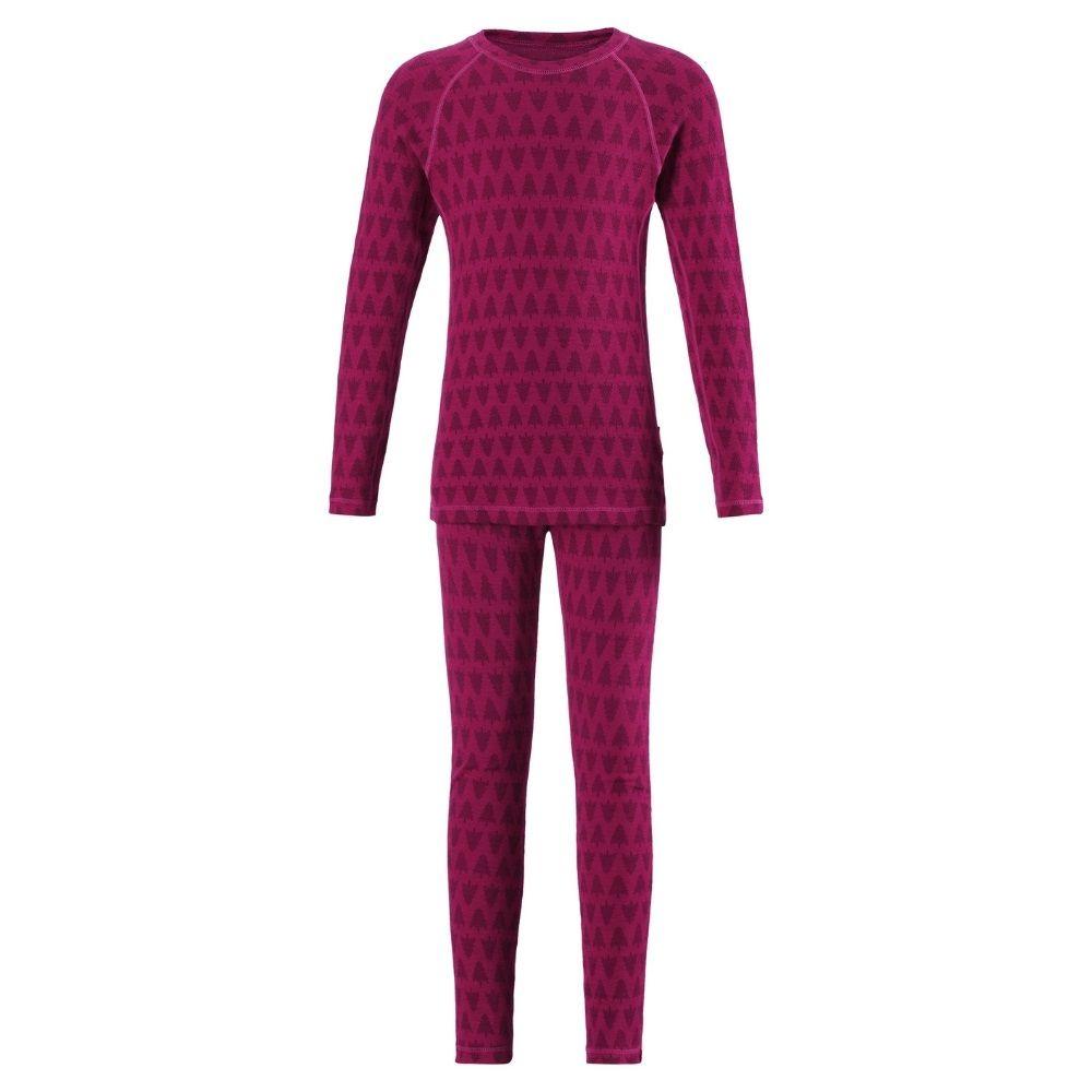 Reima Taival Merino Thermal Set, Cranberry Pink - save 35%