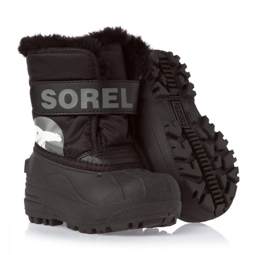 Sorel Snow Commander Kids Winter Boots, black - save 25%