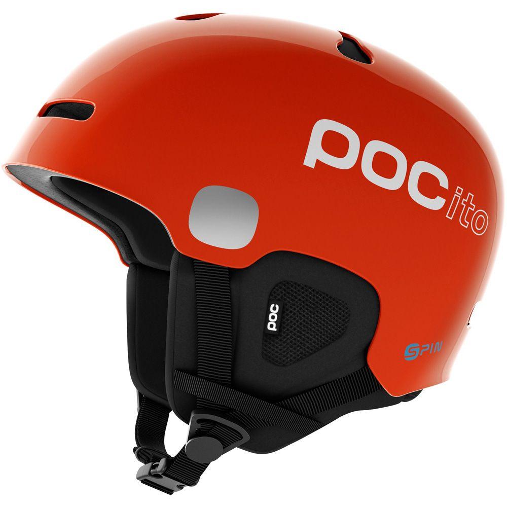 POC Auric Cut SPIN Ski Helmet, Fluorescent Orange - Save 25%