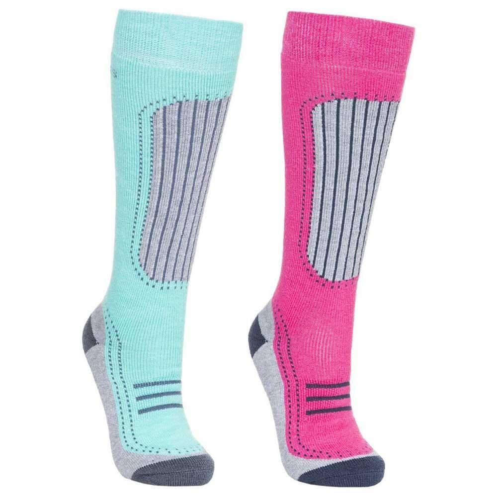Trespass Janus II Women's Comfort Ski Socks - Twin Pack