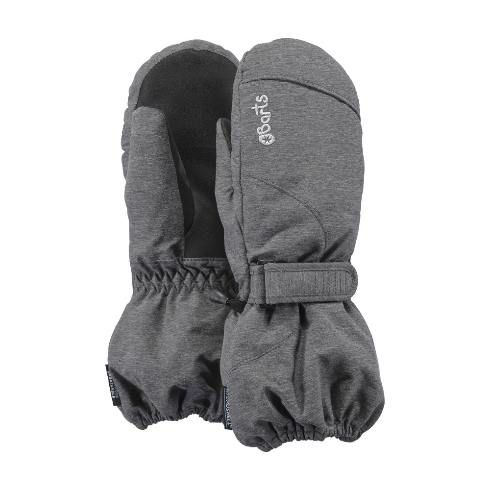 Barts Tec Kids Skiing Mittens, Heather Grey