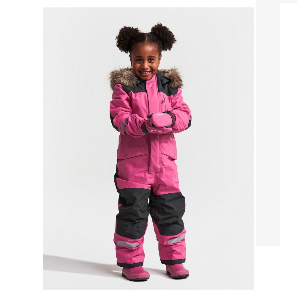 Didriksons Bjornen Kids Snowsuit - Plastic Pink save 25%