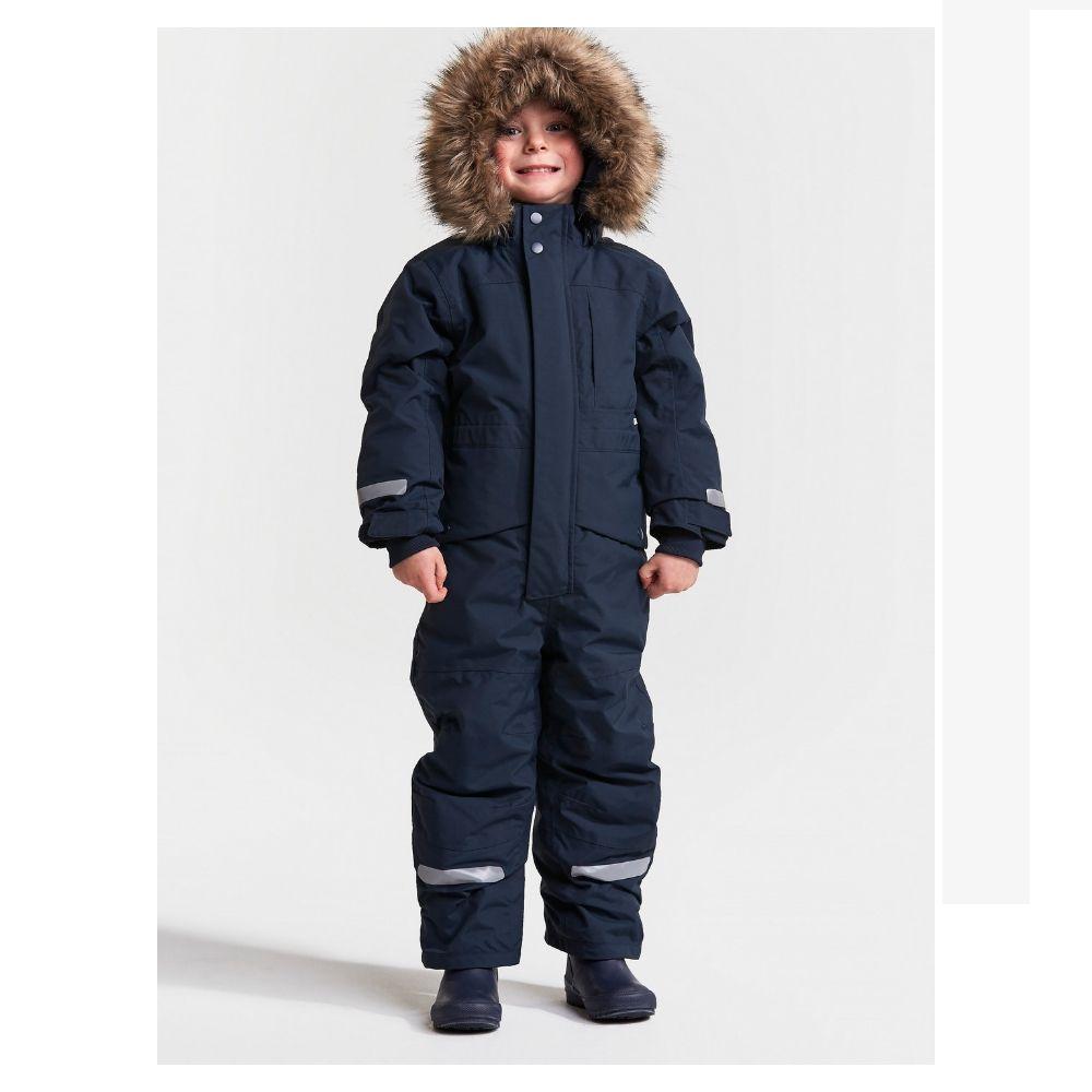 Didriksons Bjornen Kids Snowsuit - Navy - save 25%