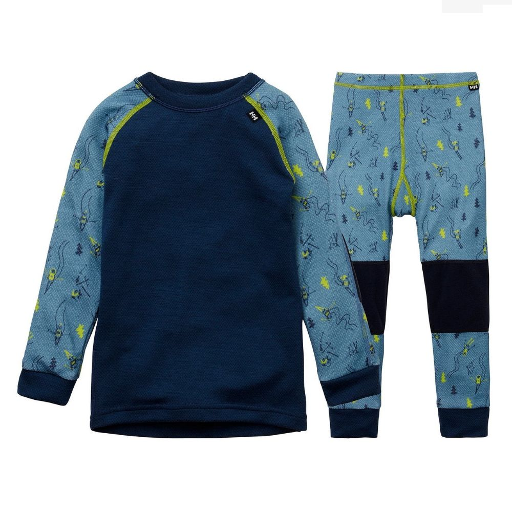 Helly Hansen Kids Lifa Merino Baselayer Set Blue Fog - save 25%
