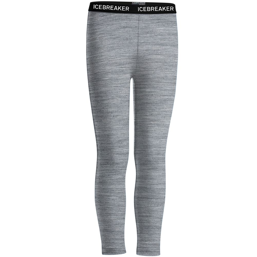 Icebreaker Toddler 200 Thermal Leggings - Heather Grey 6-12 mths Save 50%