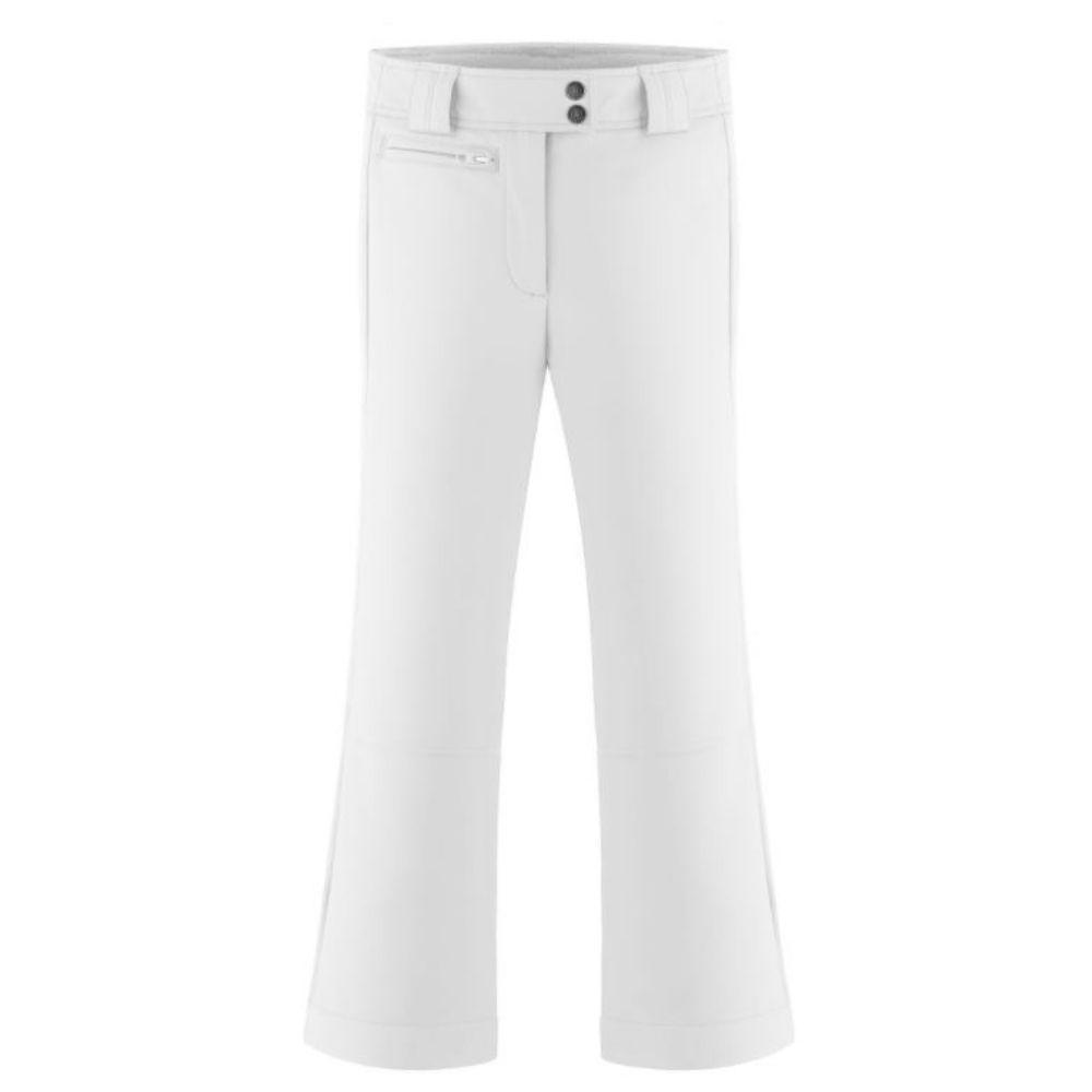 Poivre Blanc Girls Softshell Slim Ski Pants - White