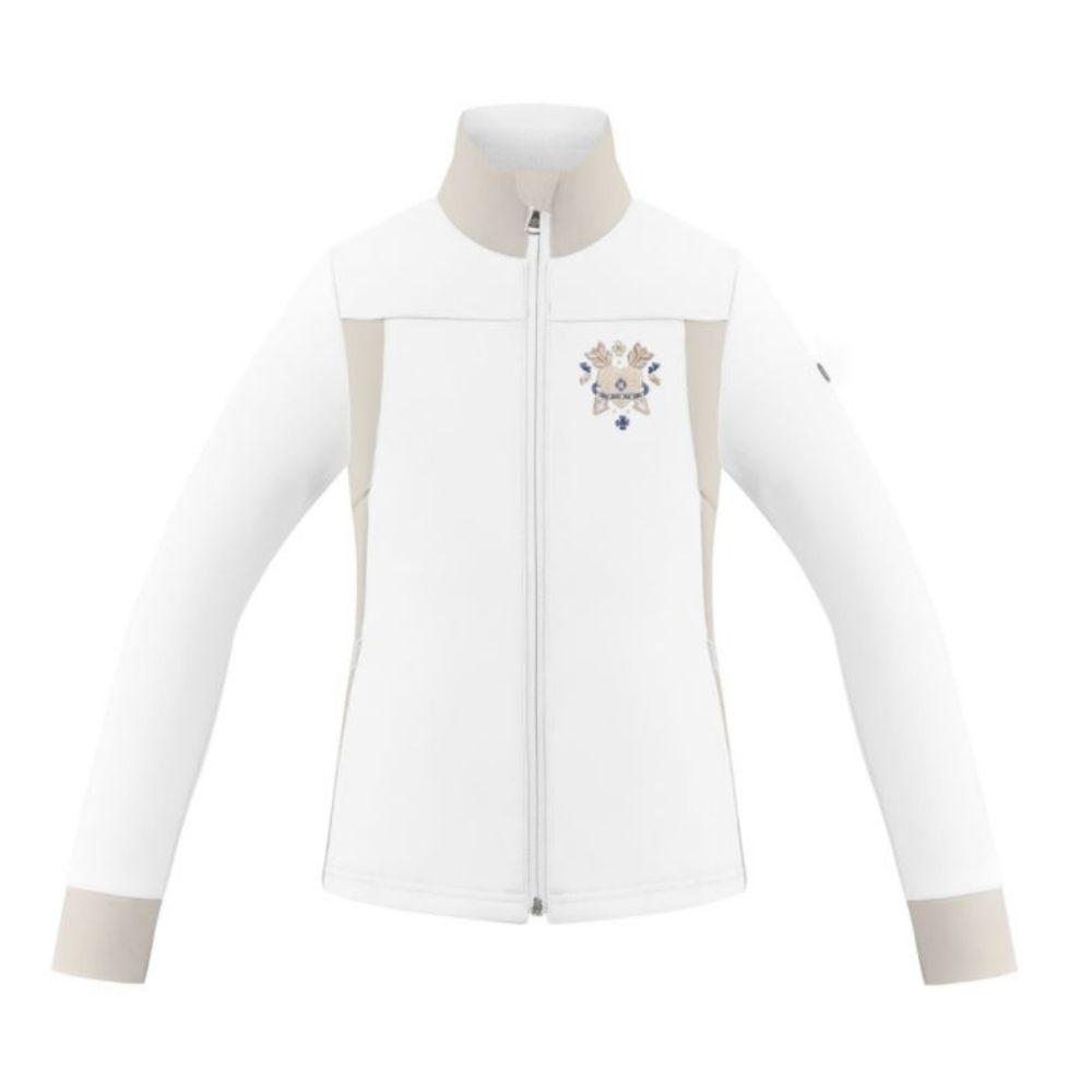 Poivre Blanc Girls Stretch Fleece - Multico White