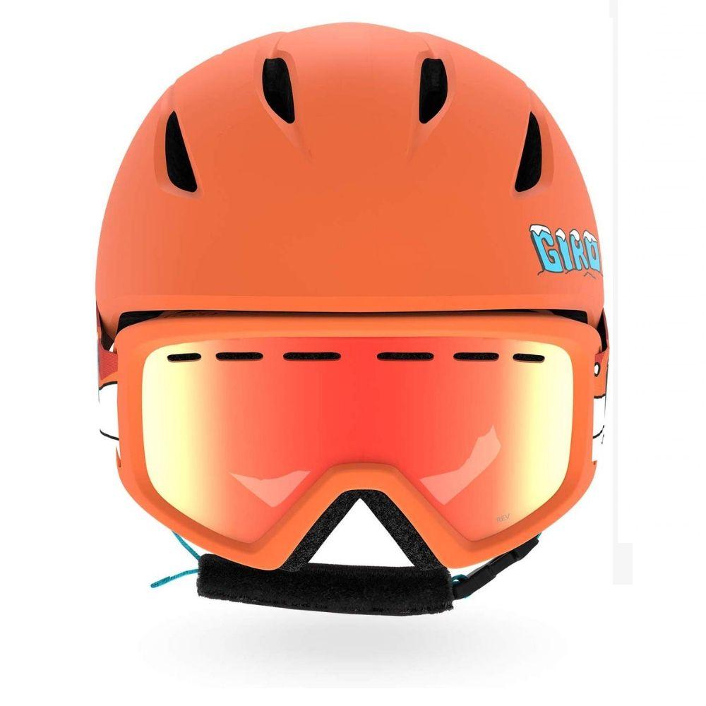 Giro Launch Helmet & Goggle Combo Set, Orange Dino