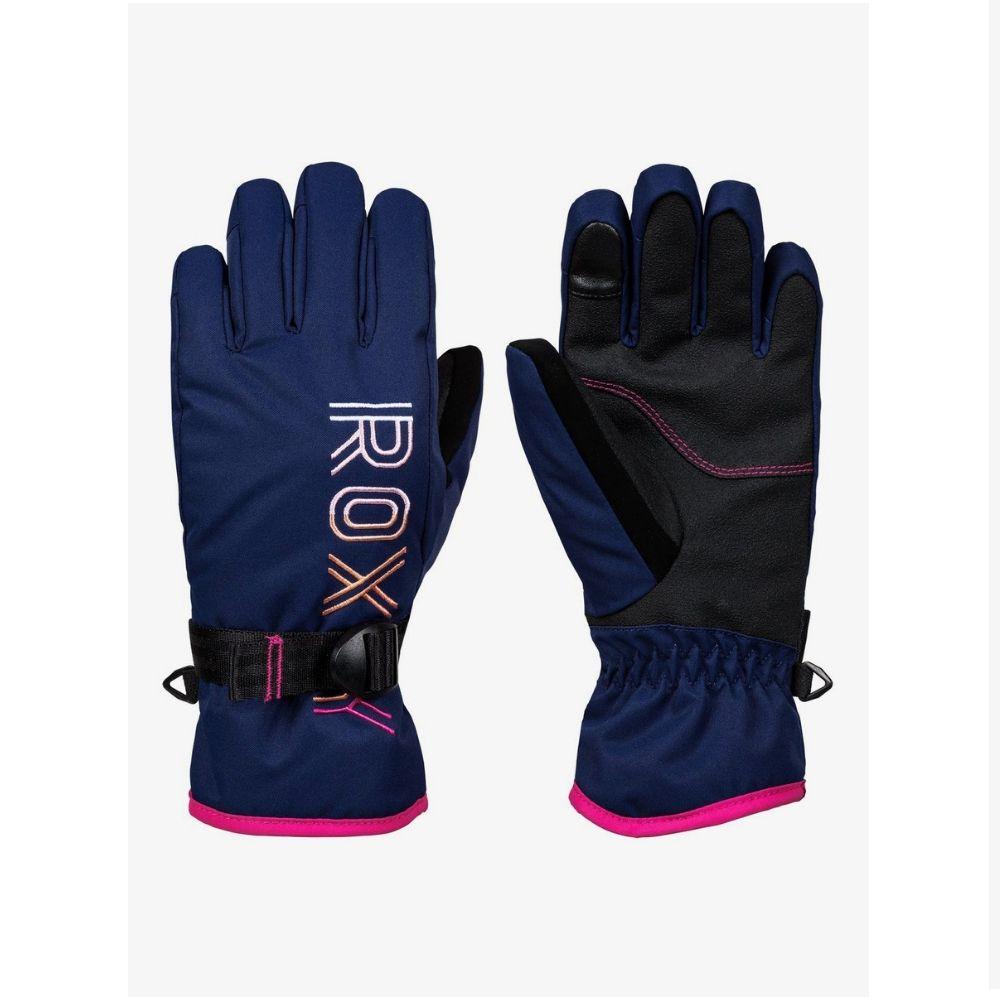 Roxy Freshfield Ski Gloves Medieval Blue for girls age 8-16