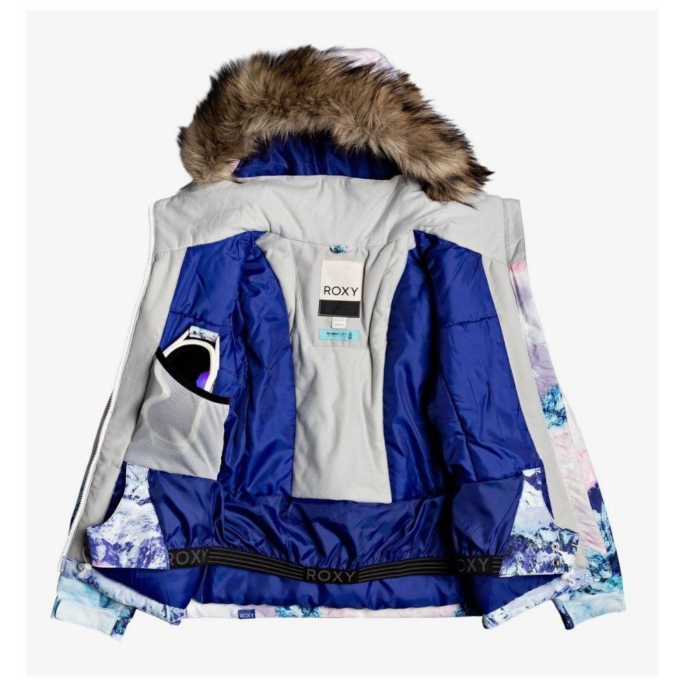 Roxy Jet Ski Girl SE Ski Jacket - White Pyrennes