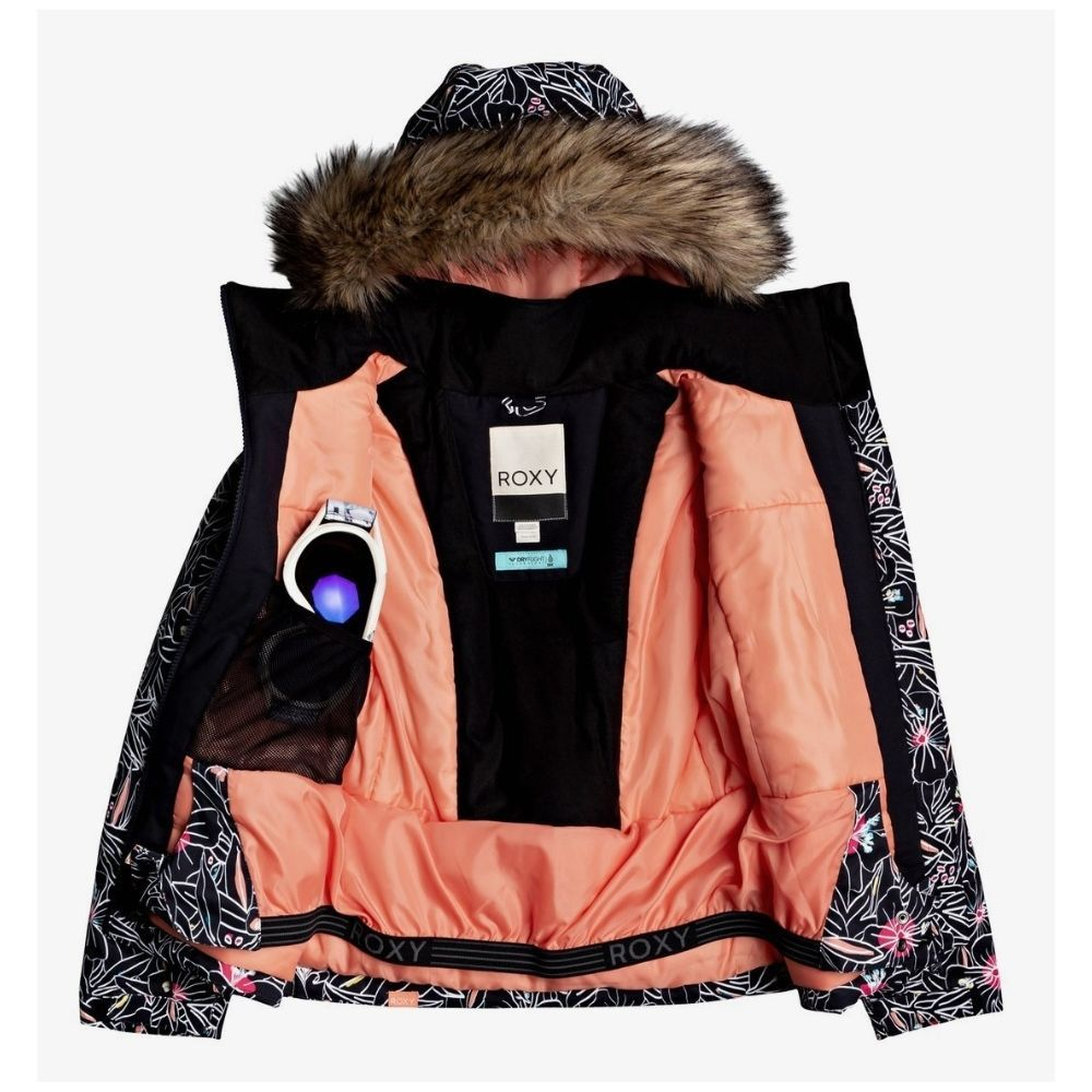 Roxy Jet Ski Girl Ski Jacket - Black OutlinesERGTJ03104-KVM1