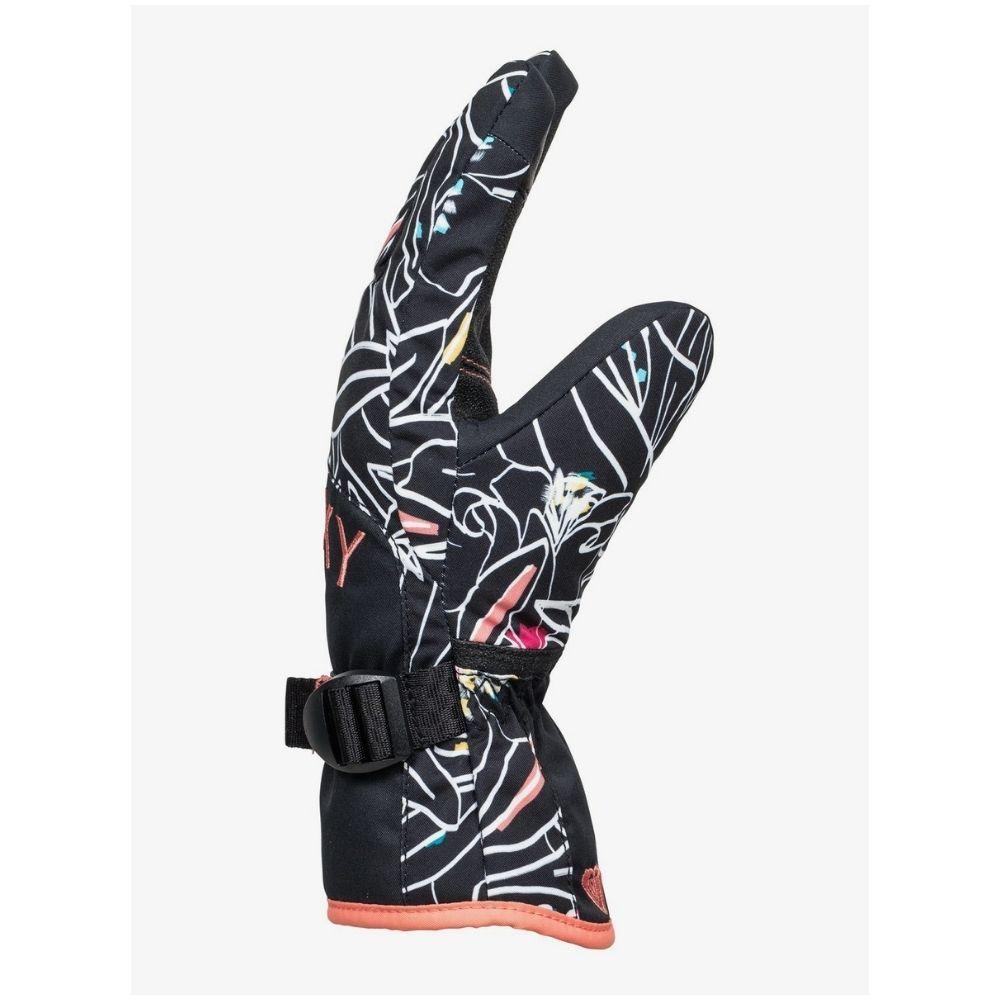 Roxy Jetty Girl Gloves - Black Outlines