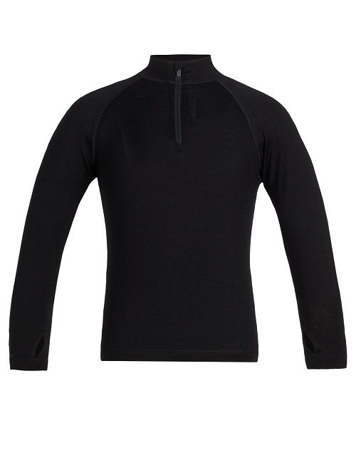 Icebreaker Kids 260 Tech LS Half Zip - Black