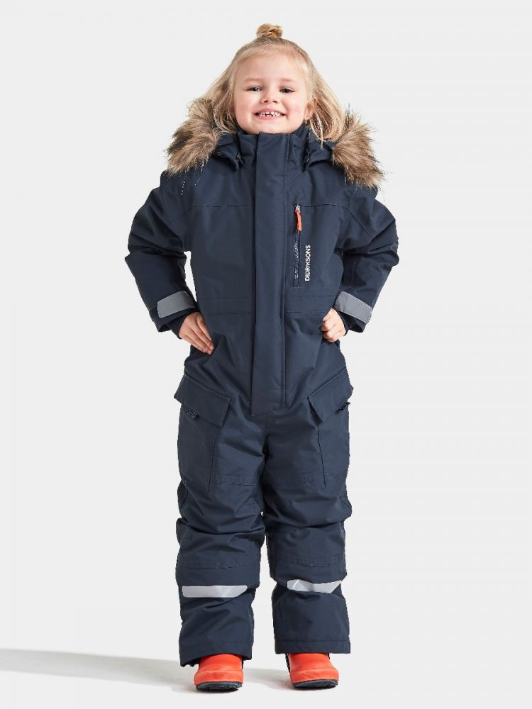 Didriksons Polar Bjornen Extra Warm Kids Snowsuit - Navy
