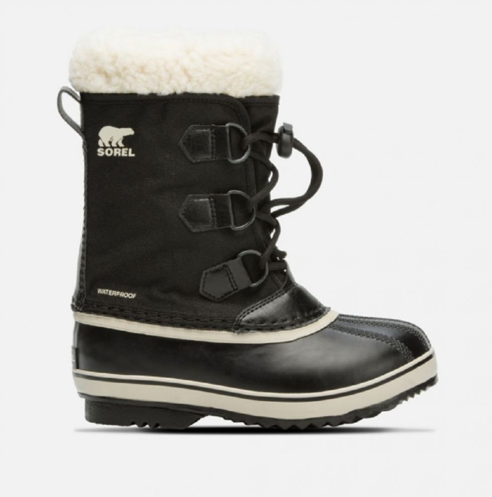 Sorel Yoot Pac Nylon Kids Snow Boots - Black