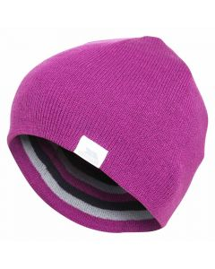 Trespass Reagan Kids Reversible Hat, Purple Orchid - save 25%
