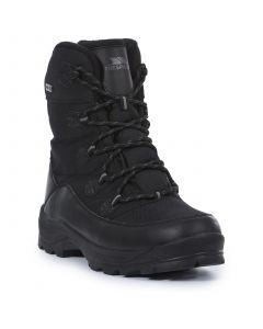 Trespass Zotos Mens Snow Boots, Black