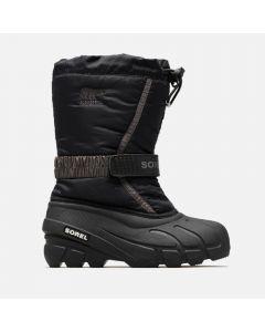 Sorel Childrens Flurry Snow Boot Black/City Grey