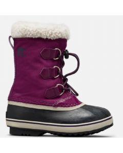 Sorel Childrens Yoot Pac Nylon Snow Boots Wild Iris/Dark Plum
