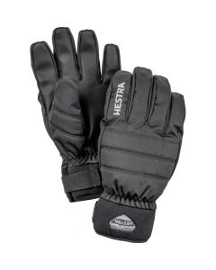 Hestra Boge Czone 5 Finger Adult Ski Gloves - Black