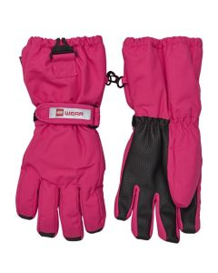 Lego Aiden Girls Ski Gloves,Dark Pink