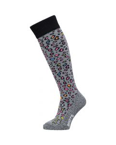 Barts Animal Print Ski Socks, Grey - save 20%