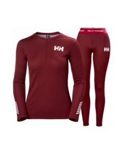 Helly Hansen Womens Lifa Active Thermals Set, Cabernet