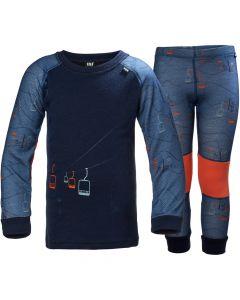Helly Hansen Lifa Merino Baselayer Set, Evening Blue/Skilift