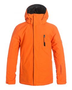 Quiksilver Mission Solid Boys Ski jacket, Flame - save 25%
