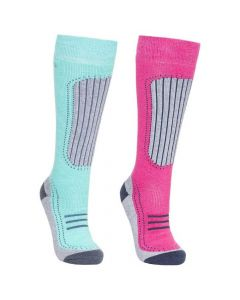 Trespass Janus II Women's Comfort Ski Socks - Twin Pack