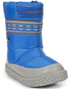 Trespass Alfred Snow Boots, Bright Blue - save 40% UK Child 6 only