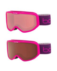 Bolle Inuk Kids Ski Goggles, Matte Pink Monkey - 2 lens options