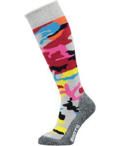 Barts Camo Ski Socks, Red