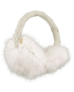 Barts Faux Fur Earmuffs -White