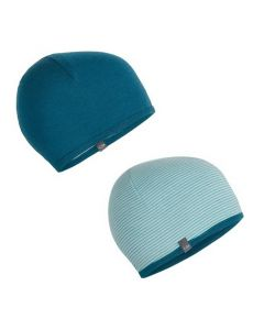 Icebreaker Adult Pocket Hat - Kingfisher/Dew/Arctic