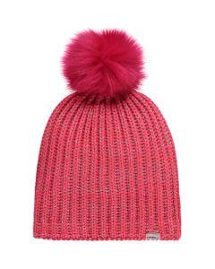 O'Neill BG Girls Lilly Beanie Neon Tangerine Pink - One Size
