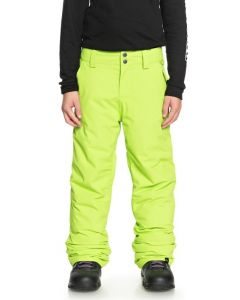 Quiksilver Estate Youth Ski Pants, Lime 15-16yrs only - save 50%