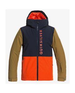 Quiksilver Side Hit Youth Ski Jacket - Pumpkin