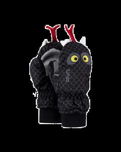 Barts Nylon 3D Mittens, Snake Black Print
