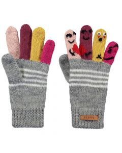 Barts Puppet Gloves Heather Grey