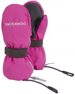 Didriksons Biggles Kids Zip Mittens - Plastic Pink
