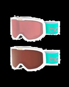 Bolle Inuk Kids Ski Goggles, White 3 - 6 yrs - 2 lens options