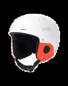 Bolle Quickster Kids Ski Helmet, Shiny White & Red, 49-52cm