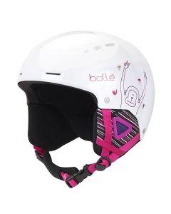 Bolle Quiz Kids Ski Helmet, Shiny White Monkey - save 25%