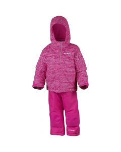 Columbia Buga Girls Ski Suit, Cactus Pink Texture - save 40%