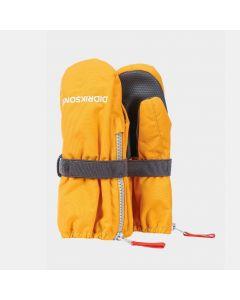 Didriksons Biggles Zip Kids Ski Mittens - Mellow Yellow